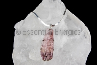 Pink Tourmaline in silver pendant