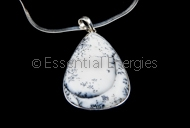 Dendritic Opal (Merlenite) pendant medium size